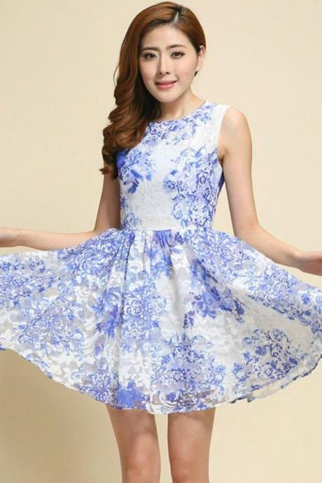 Sweet Style Organza Floral Dress