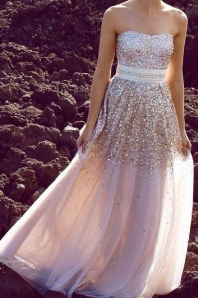 Custom Made A Line Sweetheart Neckline Long Prom Dresses 2015, Long Evening Dresses, Party Dresses, Formal Dresses