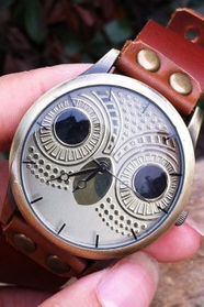 High quality Retro Owl Rivet Leather Watch