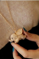 Super Cute Baby Elephant Animal Pendant Necklace