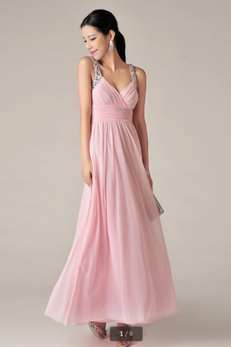 Diamond sling evening dress evening gown dress
