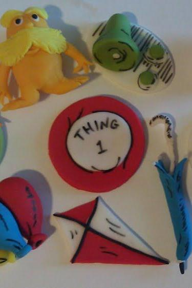 12 Dr.Seuss Inspired Cupcake Toppers