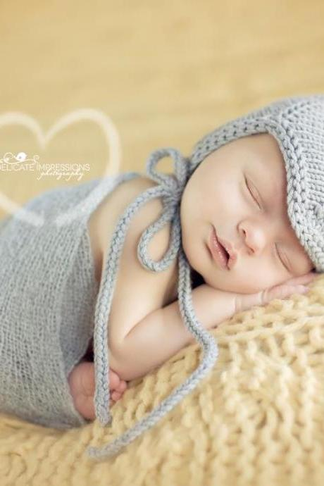 Sale -- Norwegian Aviator Newborn Photography Prop Baby Hat
