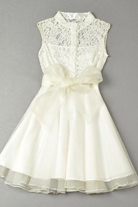 Lace Lace Sleeveless Dress ZX1014I