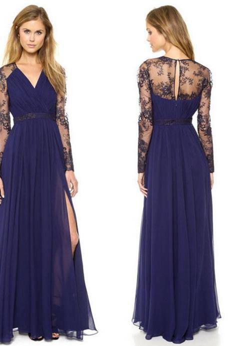2015 Sexy Lace Floral chiffon Boho Long Maxi Casual Party Cocktail Evening Dress