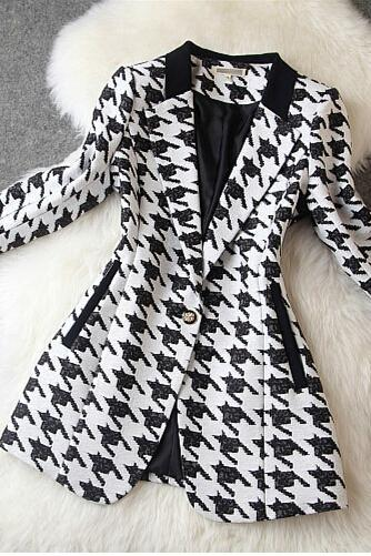 Houndstooth Jacket Slim Temperament