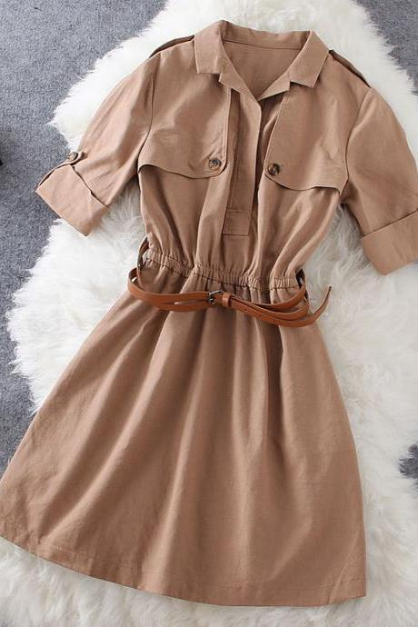 Fashion Cotton Coat Dress WQ724CF