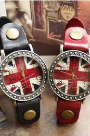 Retro British Flag Watches