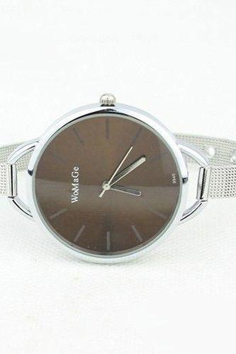Evening brown Classy Steel Strap Woman Watch