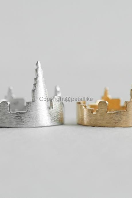 New York City Ring, Cityscape Ring, Adjustable Ring
