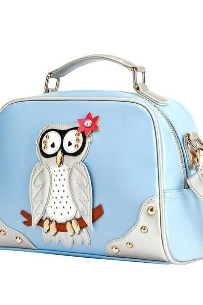Vintage Owl Rivet Tote Shoulder Bag