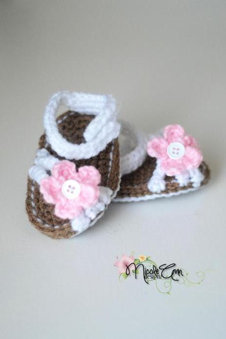Baby Girl Crochet Strappy Sandals