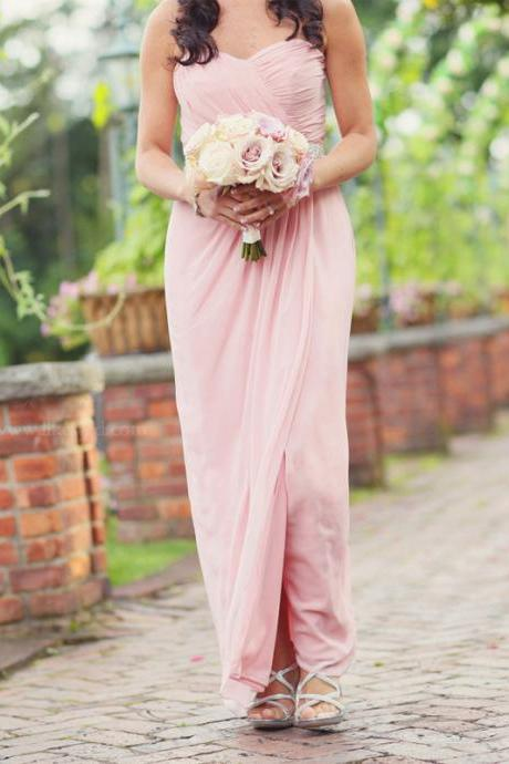 Bd209 Brief Bridesmaid Dress,Chiffon Bridesmaid Dress,Long Bridesmaid Dress