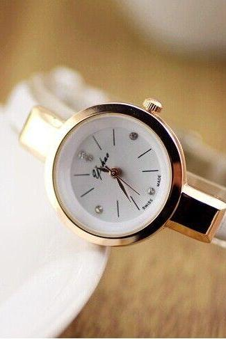 Fashion Dress Thin white Strap Woman Watch