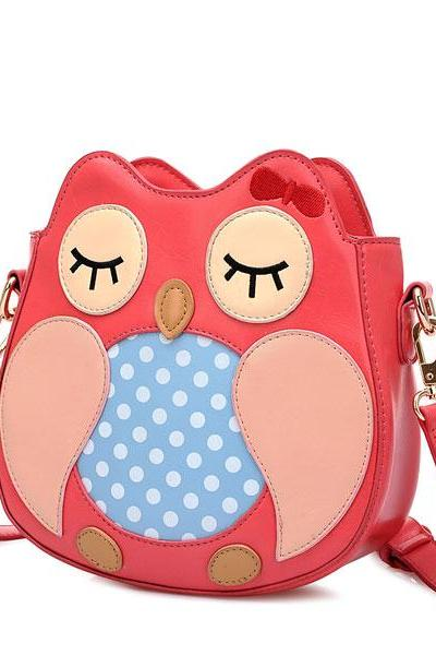 Lovely Owl Cartoon Shoulder Bag