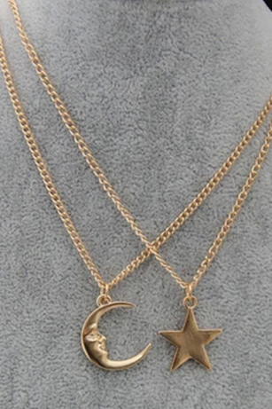 Star / Moon Pendant Necklace