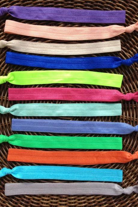 Solid Color Elastic Headband (and bracelet)