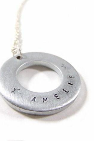 Hand Stamped Jewelry - Necklace - personalized, handstamped with your text!