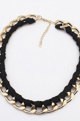 Chain choker black fashion woman necklace