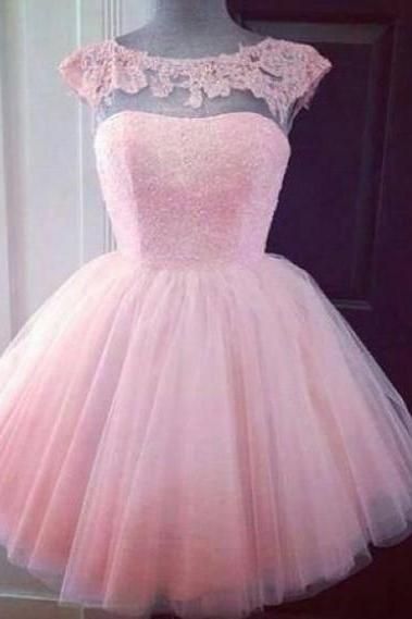 Custom Made A Line Short Pink Prom Dresses, Graduation Dresses, Formal Dresses, Bridesmaid Dresses