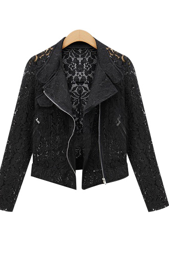 Gorgeous Lace Pattern black Jacket