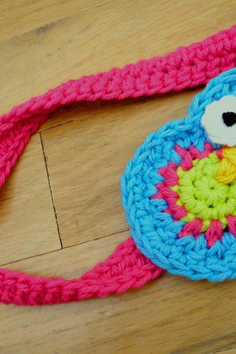 Owl Headband - Blue- Pink- Green