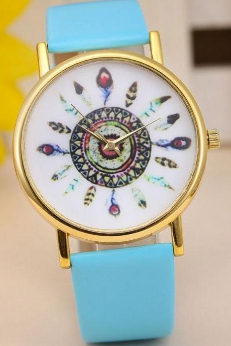 Indian Vintage sky blue Style Girl Watch