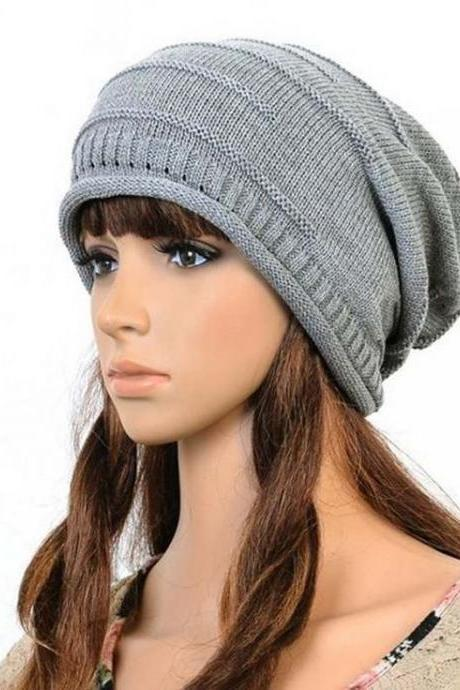 Cool Unisex Casual gray Cotton All Seasons Hat
