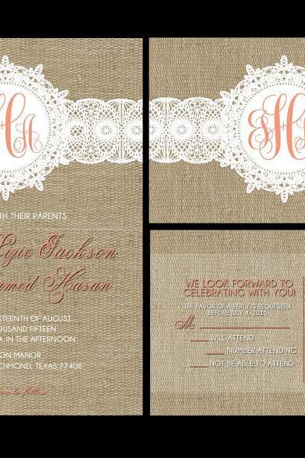 50 custom wedding invitations, personalzied owl invites, custom invitations ,