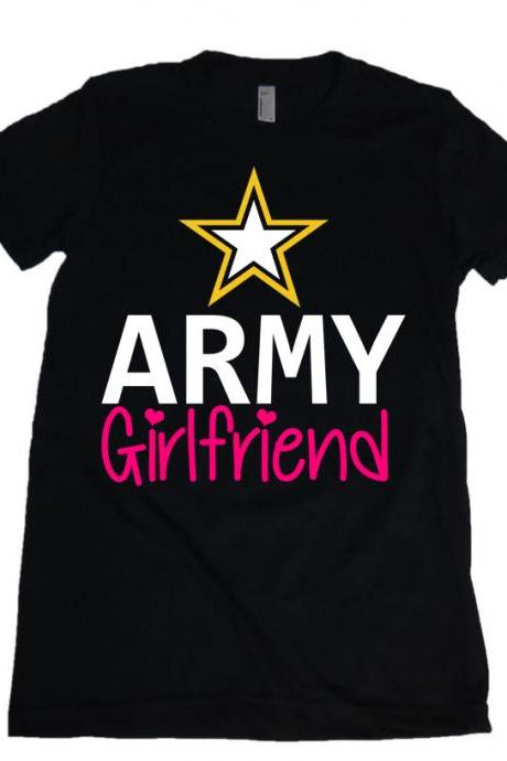 ARMY Girlfriend Military GF US Army Star Womens Missy Fit Scoop Neck T-shirt