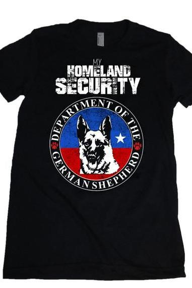 My Homeland Security Department of German Shepherd Womens Missy Fit Scoop Neck T-shirt