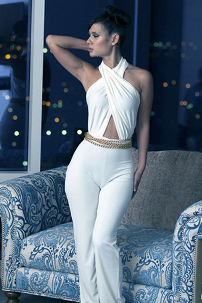 Gorgeous Solid White Jumpsuit