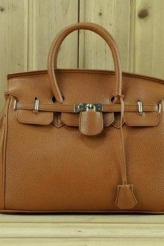 Casual Shoulder brown Totes Woman Handbag