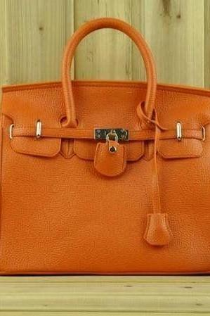Casual Shoulder orange Totes Woman Handbag