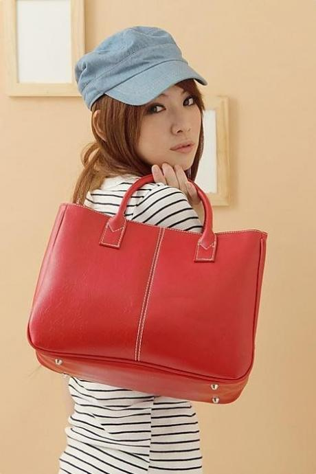 Fashion Shoulder red Totes Woman Handbag