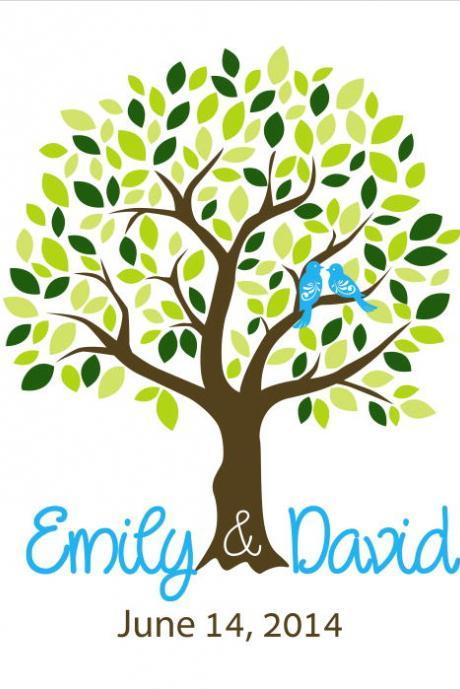 Wedding Signature Tree 18x24 200 signatures wedding guest book alternative . wedding tree, wedding guestbook
