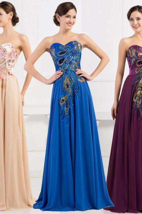 Princess Women Vintage Long Formal Bridesmaid Party Evening Prom Wedding Dresses