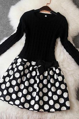 fashion Polka Dot Print Dress