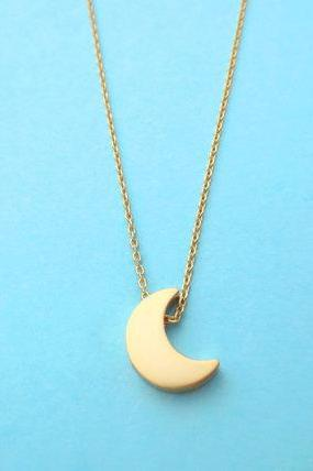Silver, Moon, And, Gold, Star, Necklace, Best, Friend, Necklace