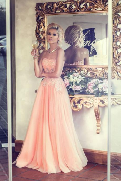 Custom Made A Line Floor Length Long Prom Dresses, Formal Dresses, Evening Dresses