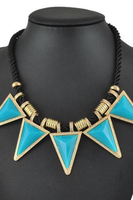 Cleopatra Style blue Statement Woman Necklace