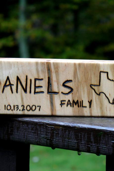 5th Anniversary Gift- Personalized Sign - MEDIUM-LONG - Rustic Wood - Housewarming, Wedding gift, Fifth Anniversary