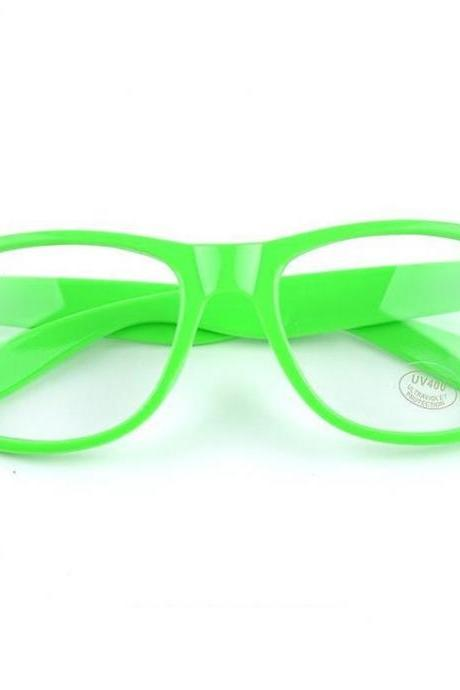 Clear Lenses green Wayfarer Fashion Trendy Unisex Glasses