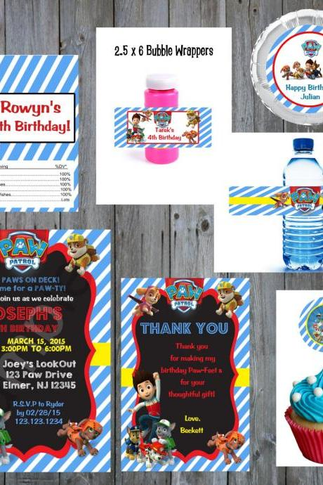 Paw Patrol Full Party Theme kit (Digital File)