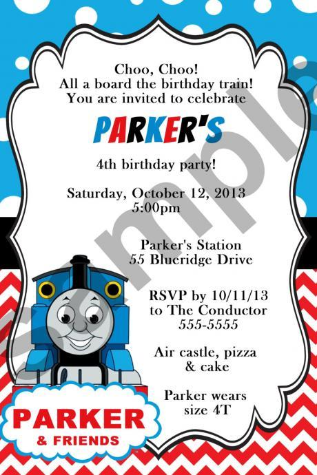 Thomas Train Birthday Invitation (Digital File)