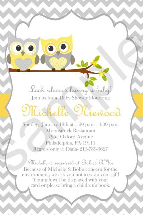 Owl Baby Shower (Digital File)
