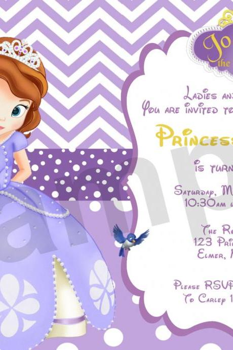 Sofia Purple Birthday Invitation (Digital File)