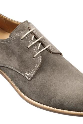 HANDMADE MEN DERBY GRAY SUEDE LEATHER SHOES, MEN STYLISH SUEDE CASUAL SHOES