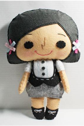Yuki girl - PDF Doll Pattern