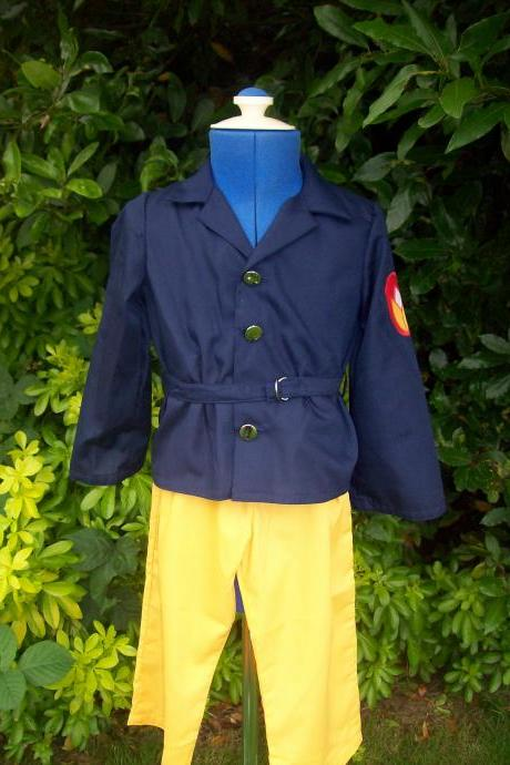 Unisex child's fireman fancy dress costume/outfit